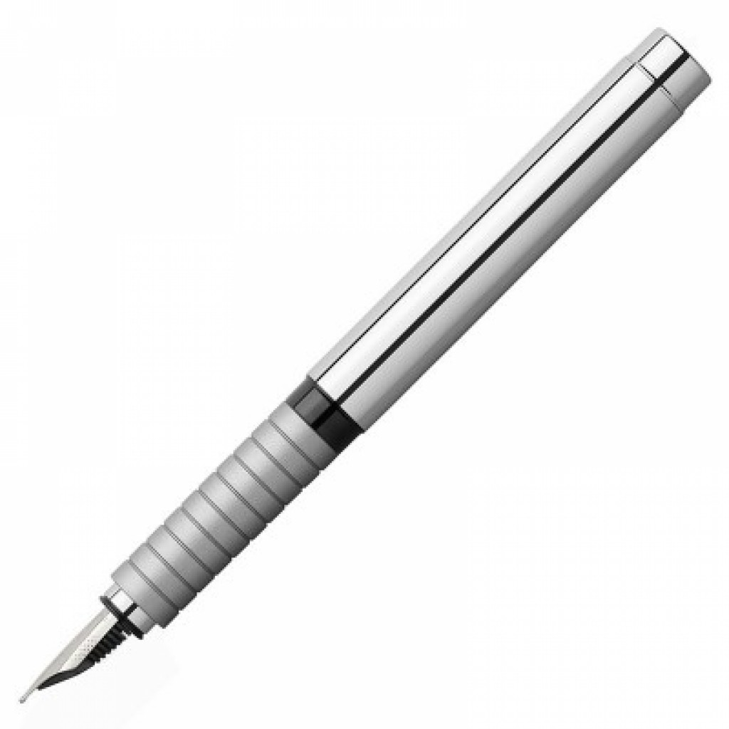Faber-Castell Basic Fountain Pen Polished Metal 148500